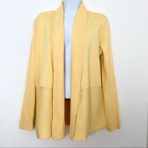 Christopher & Banks Yellow Long Sleeve Cardigan